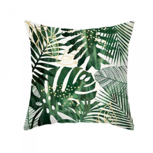 1 Piece Tropical Leaves Design Decorative Cushion Cover