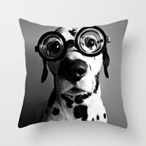 Doggy Cushion Cover Black and White Color
