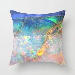 Trendy Stone Larimar Design Cushion Cover