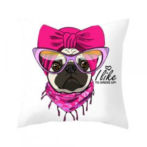 1 Piece Cute Dog Design Decorative Cushion Cover