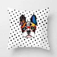 Fancy Dog Design Cushion Cover