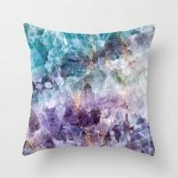 Stone Zoisite Design Cushion Cover Violet