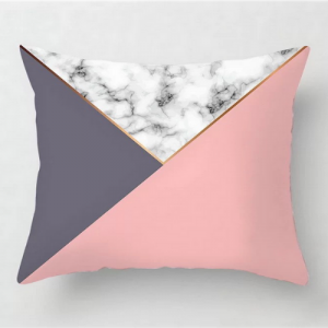 Marble Pink and Grey Design Cushion Cover