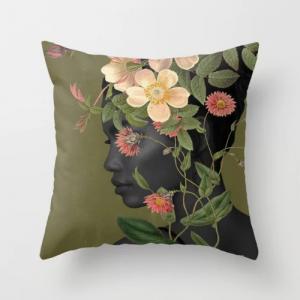 Fancy Spring Girl Design Cushion Cover