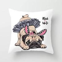Ballerina Dog Design Cushion Cover