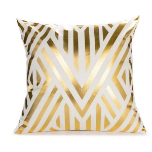 Foil Gold Geometric Style Cushion Cover