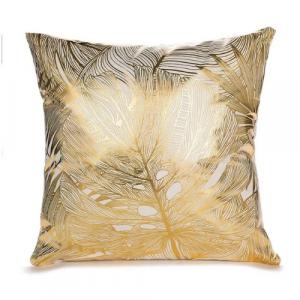 Foil Gold Big Leaf Cushion Cover