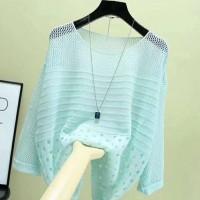 Hollow Half Sleeve Summer Wear Outwear Top - Green