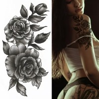 Floral Printed Easy Moisture Applicable Tattoo - Design XVI