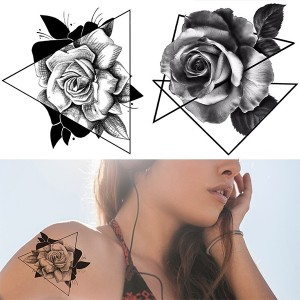 Floral Printed Easy Moisture Applicable Tattoo - Design XVII