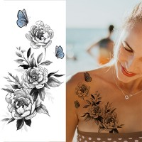 Floral Printed Easy Moisture Applicable Tattoo  - Design XXII