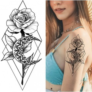 Floral Printed Easy Moisture Applicable Tattoo - Design XXIII