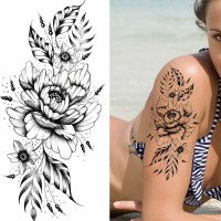 Floral Printed Easy Moisture Applicable Tattoo  - Design XXIX
