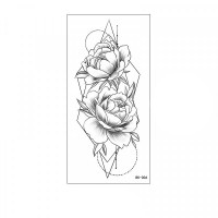 Floral Printed Easy Moisture Applicable Tattoo - Design 42