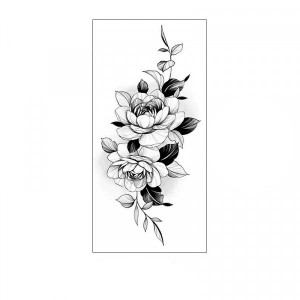 Floral Printed Easy Moisture Applicable Tattoo - Design 43
