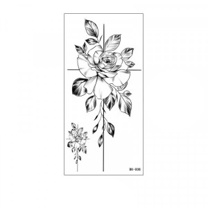 Floral Printed Easy Moisture Applicable Tattoo - Design 44