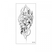 Floral Printed Easy Moisture Applicable Tattoo - Design 46