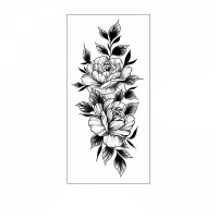 Floral Printed Easy Moisture Applicable Tattoo - Design 47