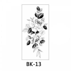 Floral Printed Easy Moisture Applicable Tattoo  - Design 49