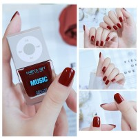 Solid Color Waterproof Oily Nails Polish A05 - Wine Red