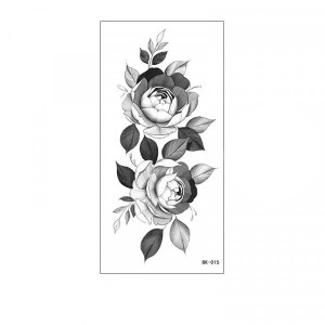 Floral Printed Easy Moisture Applicable Tattoo - Design 52