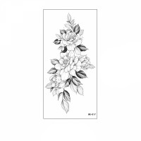 Floral Printed Easy Moisture Applicable Tattoo - Design 54