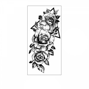 Floral Printed Easy Moisture Applicable Tattoo - Design 55