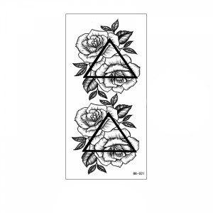Floral Printed Easy Moisture Applicable Tattoo  - Design 58