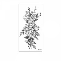 Floral Printed Easy Moisture Applicable Tattoo  - Design 59