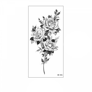 Floral Printed Easy Moisture Applicable Tattoo - Design 63