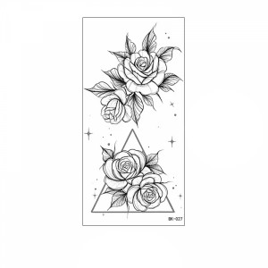 Floral Printed Easy Moisture Applicable Tattoo - Design 64