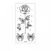 Floral Printed Easy Moisture Applicable Tattoo - Design 65