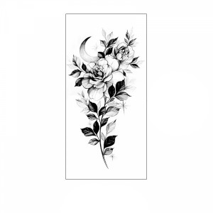 Floral Printed Easy Moisture Applicable Tattoo  - Design 69