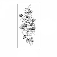 Floral Printed Easy Moisture Applicable Tattoo  - Design 70