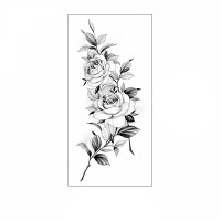 Floral Printed Easy Moisture Applicable Tattoo  - Design 71