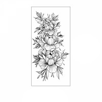 Floral Printed Easy Moisture Applicable Tattoo  - Design 73