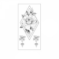 Floral Printed Easy Moisture Applicable Tattoo - Design 76