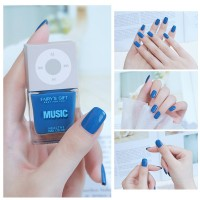 Solid Color Waterproof Oily Nails Polish A14 - Blue