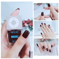 Solid Color Waterproof Oily Nails Polish A15 - Burgundy