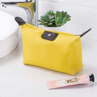 Zipper Closure Cosmetics Multi Purpose Traveller Bags - Yellow