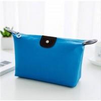 Zipper Closure Cosmetics Multi Purpose Traveller Bags - Blue