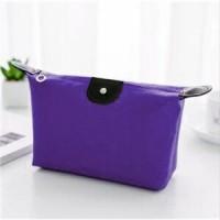 Zipper Closure Cosmetics Multi Purpose Traveller Bags - Purple