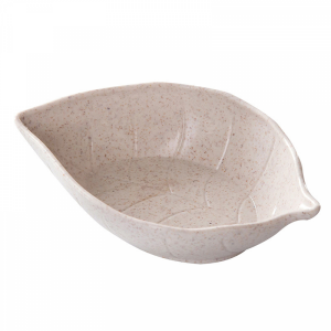 Leaf Mold Cute High Quality Plastic Dining Table Storage Snacks Tray - Gray