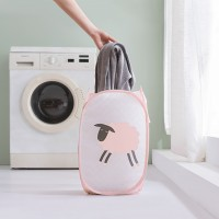Printed Fancy Canvas Foldable Laundry Basket - Pink