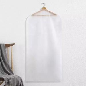 Transparent Zipper Closure Anti Dust Protection Cover - White