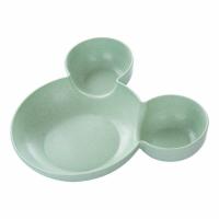 Mickey Mold Fancy Kids Kitchen Essential Storage Plate - Green