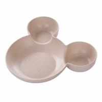 Mickey Mold Fancy Kids Kitchen Essential Storage Plate - Apricot