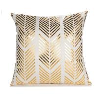Foil Gold Elegant Geometric Style Cushion Cover