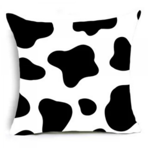 Fancy Cow Spots Design Cushion Cover