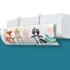 Animal Printed Cute AC Air Blow Vent Deflector - White